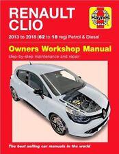 HAYNES REPAIR MANUAL RENAULT CLIO 2013 - 2018 (62 - 18 reg) PETROL DIESEL