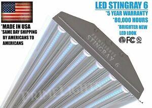 6 Lamp LED Shop Garage Utility Light Fixture 130lm / Watt 4FT BRIGHT 132Watt 5K