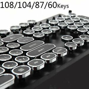 Steam Punk Typewriter Mechanical Keycap Dots Retro 108/104/87 Keys ABS Round