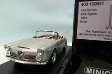 WOW EXTREMELY RARE Alfa Romeo 106 Spider 2600 1964 Silver 1:43 Minichamps-GT/A33