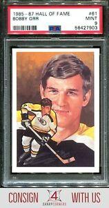 1985-87 HALL OF FAME CARDS #61 BOBBY ORR HOF PSA 9 A3122656-903