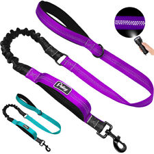 Dual Handle Dog Bungee Lead No Pull Elastic Rope Walking Leash Leads Reflective