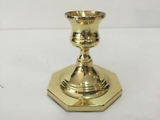 "Baldwin Brass Candlestick Holder, 3"" Tall, 3"" Diameter (Bottom)"