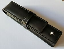 Montblanc Black Leather Pen Case Pouch New