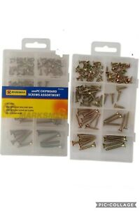 New 100 Pc Assorted Sizes Chipboard Screw Set.in 10,13,16,20,25&30mm.62004