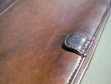 vtg SantaFe Dilana Distressed Dark Brown Leather Laptop Portfolio File Bag 16.5""
