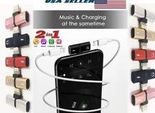 Dual Lightning Adapter Headphone Jack Splitter Audio For iPhone 7 8 X XR XS 11