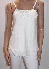 DESIGN A HOUSE Brand White Lace Cami Top Size XS BNWT #TA23