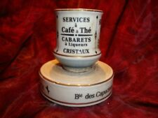 Porcelain French Style Match Striker Holder Matches Bar Advertising Pyrogene