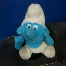Vintage 1980's Peyo Plush 7.5� Smurf Doll Tv Cartoon Character - Stuffed Animal