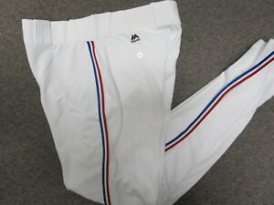 TEXAS RANGERS WHITE FLEX BASE AUTHENTIC MAJESTIC BASEBALL PANTS 32-42 WAIST