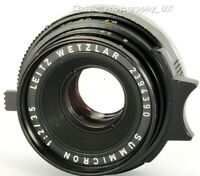 Summicron 1:2/35mm 11309 6-Element Wide-Angle Lens made by LEITZ Wetzlar in 1970