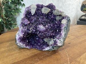 Amethyst Uruguay AA - Qualität Stufe Geode Druse mit Standfläche 4,2 Kg