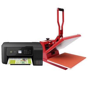 Presse à Chaud Textile 38 x 38cm & Imprimante Transfert Impression Sublimation