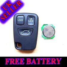 for VOLVO 3 BUTTON S40 V40 S70 C70 V70 Remote Key FOB Remote Case Free Battery