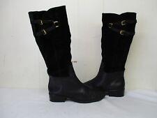 RALPH LAUREN MAREN Black Suede Leather Zip Riding Boots Womens Size 10 B