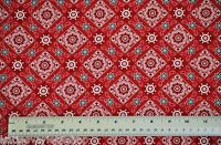 1/2 yard cotton quilt fabric Bandanna red Timeless Treasures apparel sewing
