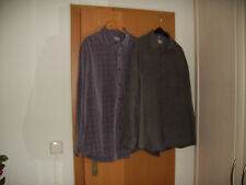 2 Herrenhemden Freizeithemden Canda Gr. XL43/44 grau unifarben Polyester Langarm