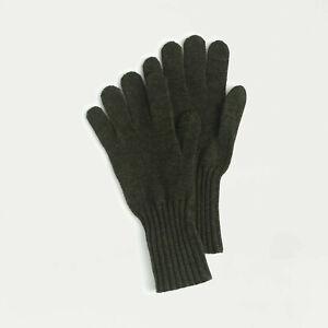J. Crew 100% Cashmere Everyday Gloves Smartphone Texting Unisex $60 Green NEW