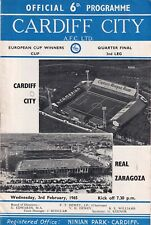 More details for football programme cardiff city real zaragoza 1965 cup winners cup vintage