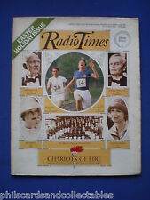 Radio Times - Chariots Of Fire - Easter Issue    21st April 1984