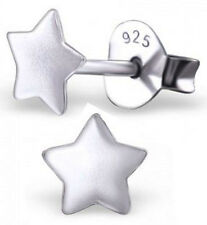 PAIR OF STERLING SILVER 925 SMALL SIZE STAR EARRINGS / EAR POSTS / STUDS, 5 MM