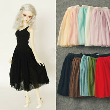 Lace Long Skirt Multicolors for BJD  Girl 1/4 MSD,1/3  SD16 Doll Clothes CWB78