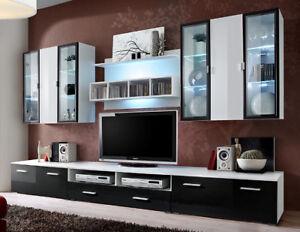 Malmo 4 - wall entertainment center / entertainment center for 65 inch tv