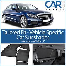 Mercedes C Class 4dr 14+ UV CAR SHADE WINDOW SUN BLINDS PRIVACY GLASS TINT BLACK