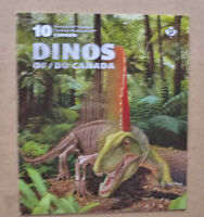 2016 CANADA DINOSAURS STAMP BOOKLET 10 STAMPS