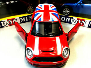 New Mini Hatch Model Toy Car Vehicle Diecast Child Adult Union Jack Roof Gift