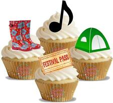 NOVELTY Music Festival Mix 12 STAND UP Edible Cake Toppers Decorations Summer