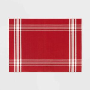 Plaid Border Placemat Red Threshold New