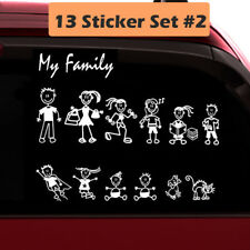 13 Stick Figure My Family Car Decal Sticker (Style#2) Pet Dog Cat for Car Window