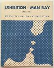 rare 1945 MARCEL DUCHAMP designed exhibition brochure MAN RAY - JULIEN LEVY