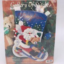 Stocking Kit Christmas Bucilla Felt Applique SANTA ON SLED 33509
