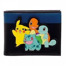 POKEMON STARTERS BULBASAUR, CHARMANDER, SQUIRTLE & PIKACHU RUBBER PATCH WALLET