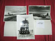 N°15725 / 3 photos d'epoque Meteor NF XI de l'escadron 2/30 Camargue / 1956