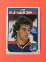 Dale Hawerchuk 1982-83 O-Pee-Chee Rookie Hockey Card #380  Wow See Photos