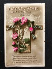 Vintage Postcard: New Years Greetings #AA433: Coloured