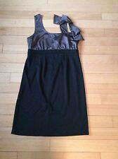 Motherhood Maternity Formal Dress Bow Black Medium Cute 🍋🍒🍭