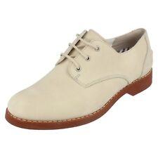 Mujer Sperry Top Sider Crema Nubuck Zapatos Con Cordones Barco Oxford Talla UK