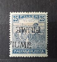 FIUME-Hungary stamp italien occup.1918 (Sassone# 11ac)* - 4000€ (SIGNED BODOR)