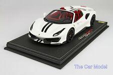 Ferrari 488 Pista Spider Avus White w/ Display Case Ltd 24 pcs BBR 1/18 - No MR