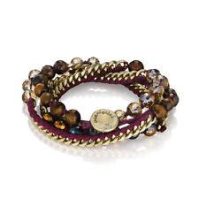 Chloe And Isabel Bead + Ribbon Multi-Wrap Bracelet - B282BE - NEW