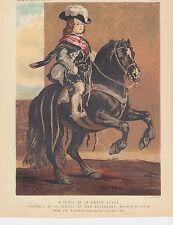Equestrian Boy Pony Horse Equine Antique Art Print Lithograph 1873