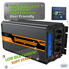 Inverter 3000W 6000W DC 24V AC 220V Power Inverter Convertitore LCD EDECOA