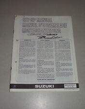 Istruzioni di montaggio/set up manual SUZUKI GSF 400 BANDIT edizione luglio 1991
