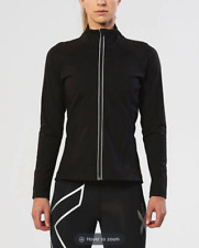 2XU Plyometric Pro Jacket Black Medium Running Exercise Workout Warm Full Zip
