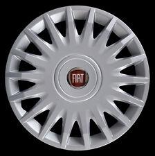 "Fiat Bravo 2007 Kit 4 Copricerchi coppa ruota 15"" logo rosso cod. 1252LR"